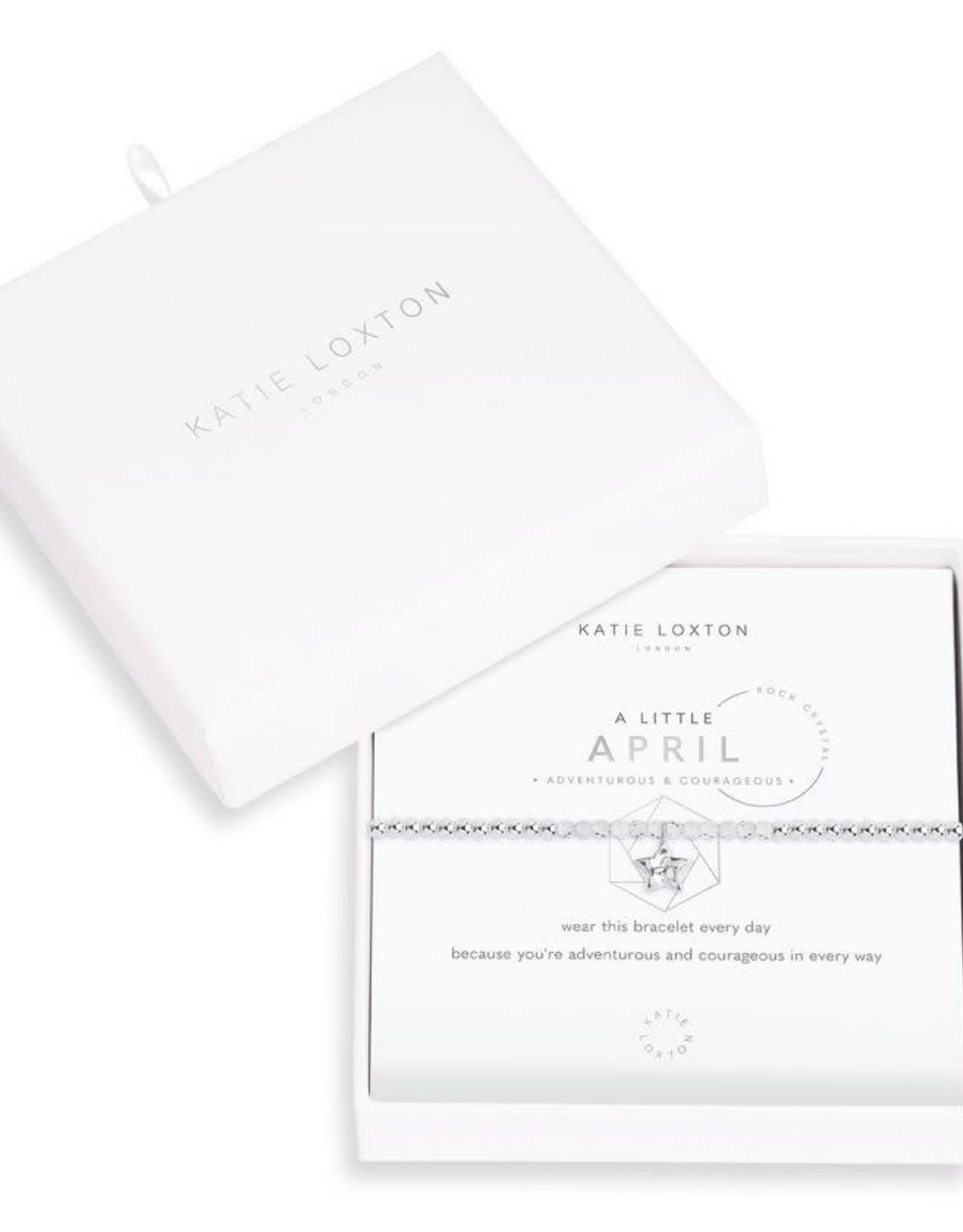 Katie Loxton Little Birthstone Bracelet April Rock Crystal