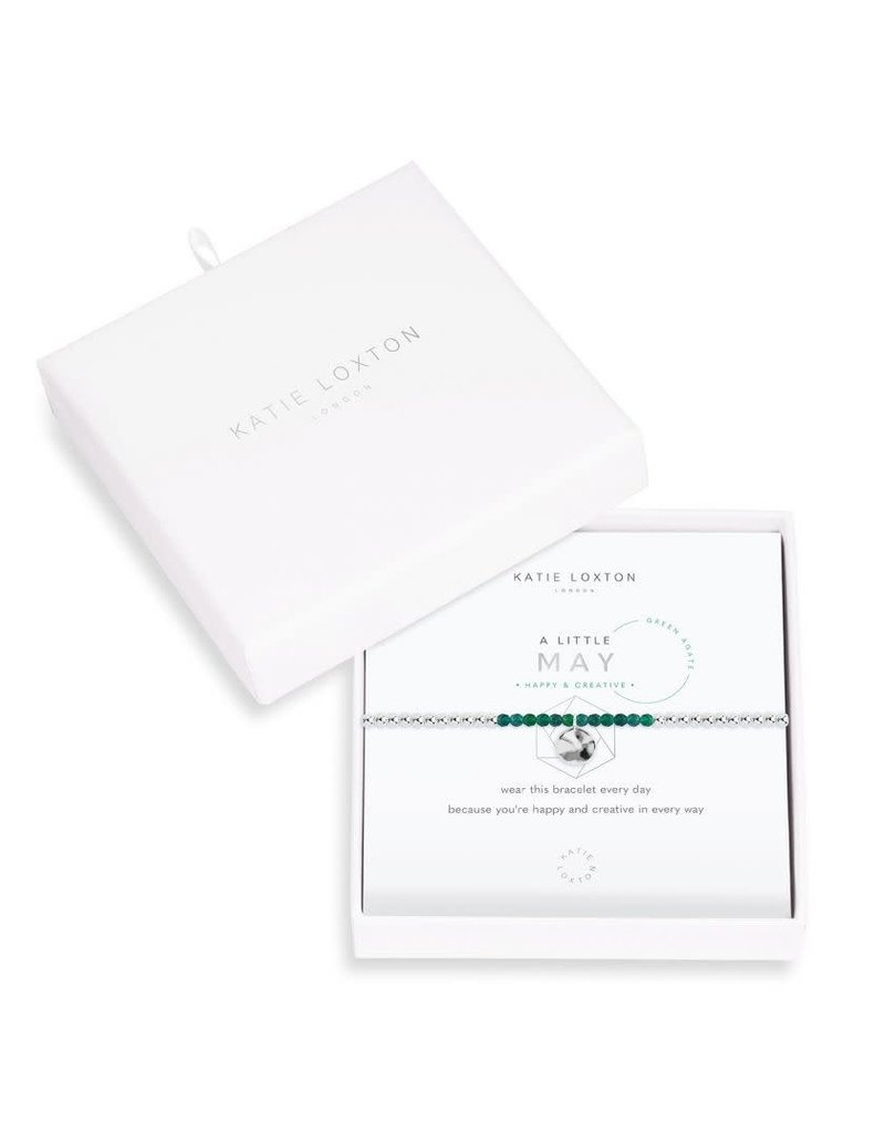 Katie Loxton Katie Loxton Little Birthstone Bracelet May Green Agate