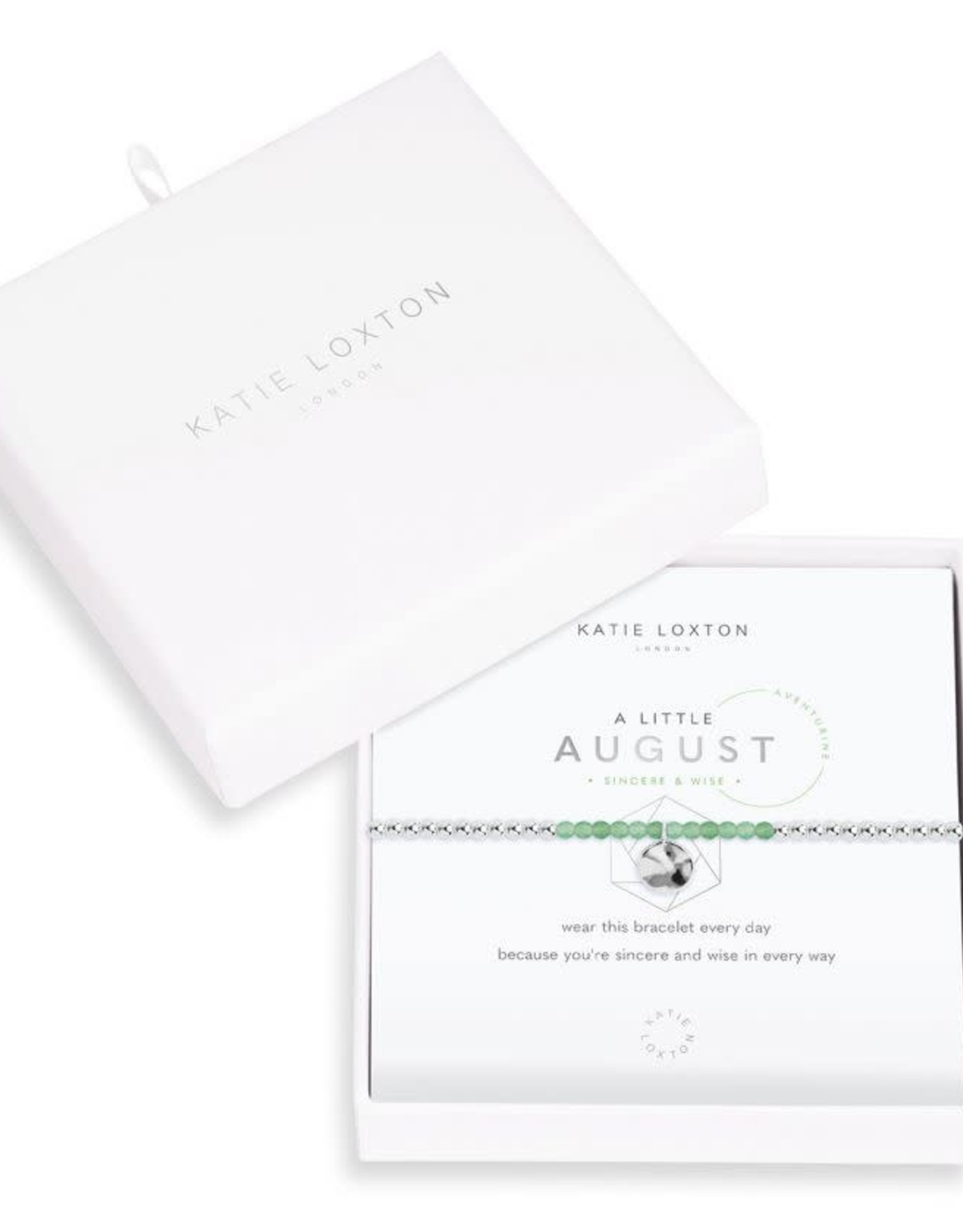 Katie Loxton Little Birthstone Bracelet August Aventurine