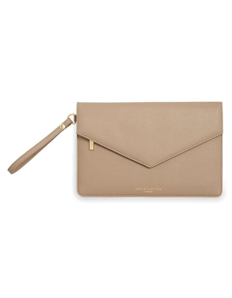 Katie Loxton Katie Loxton Esme Envelope Clutch Tres Chic Taupe