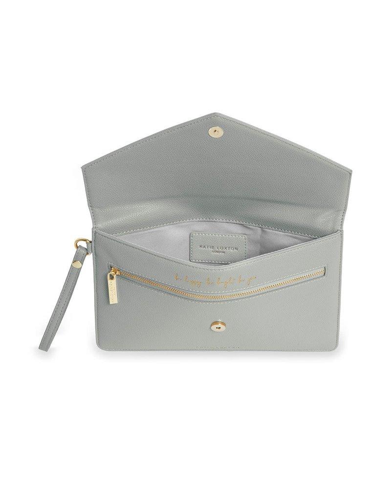 Katie Loxton Katie Loxton Esme Envelope Clutch Be Happy Grey