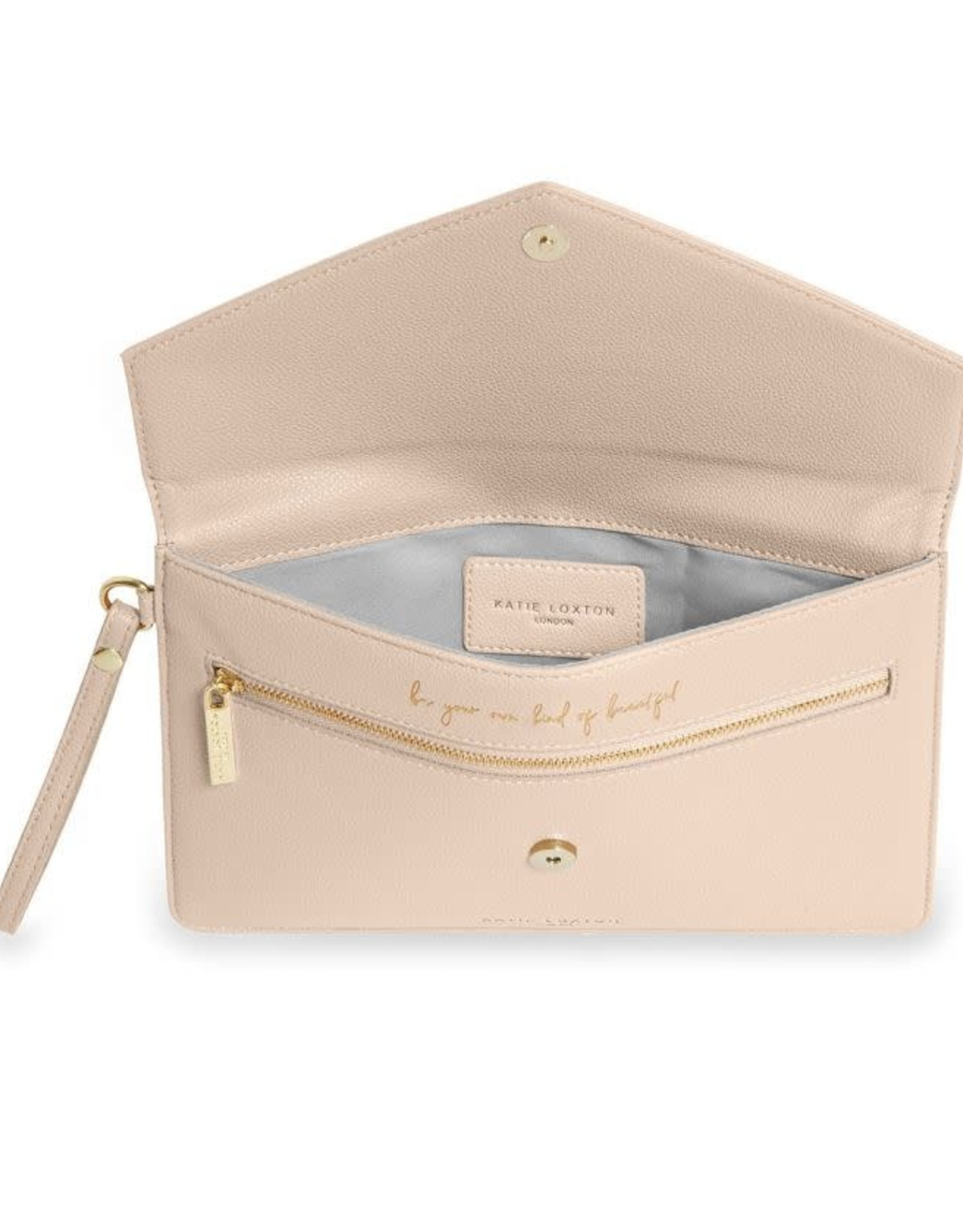 Katie Loxton Esme Envelope Clutch Beautiful Nude Pink