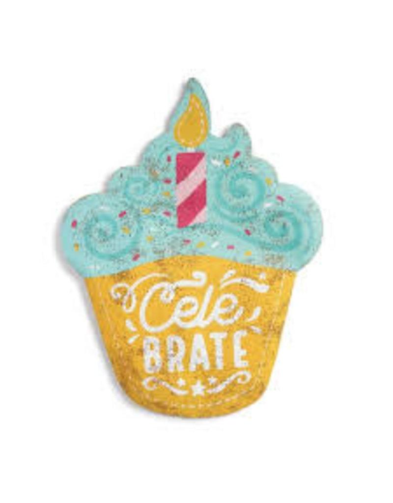 Demdaco Door Screening Celebrate Cupcake