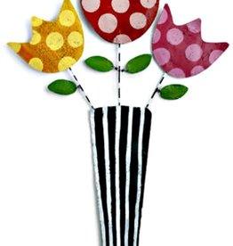 Door Screening Flowers in a Vase