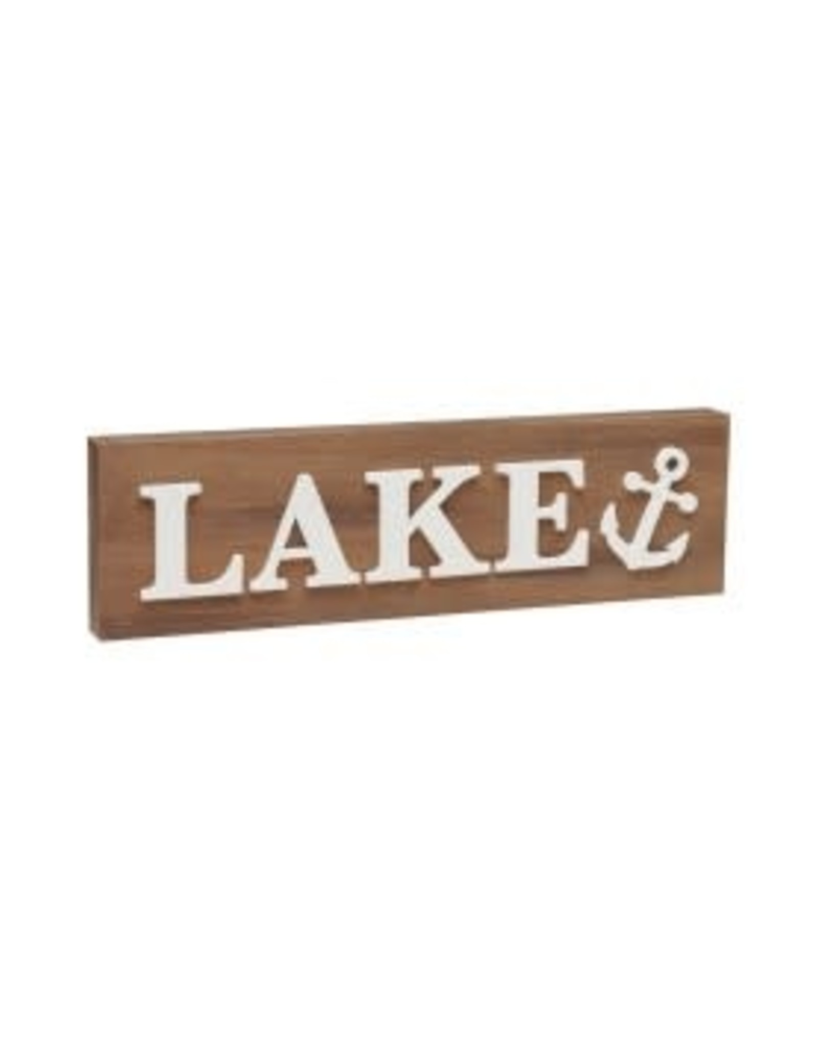 Collins Painting & Desgin Block Sign Lake Anchor 3D