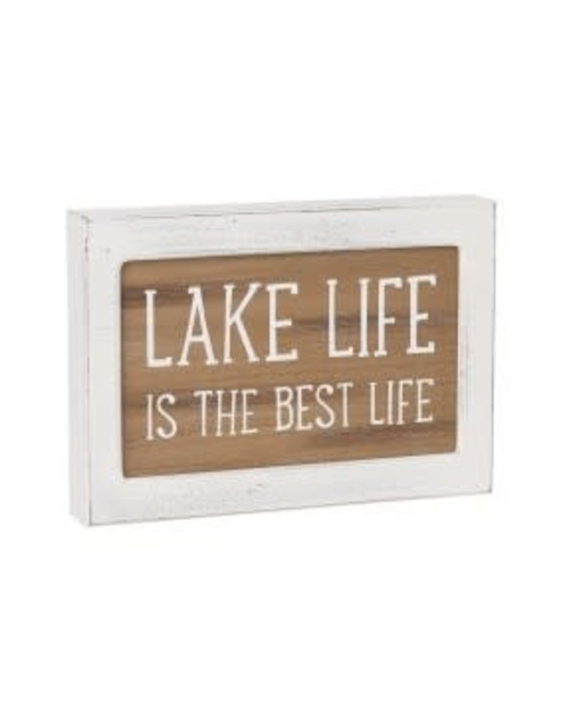 Layered Sign Lake Life