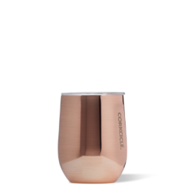 Corkcicle Stemless- 12oz Wine Glass Copper