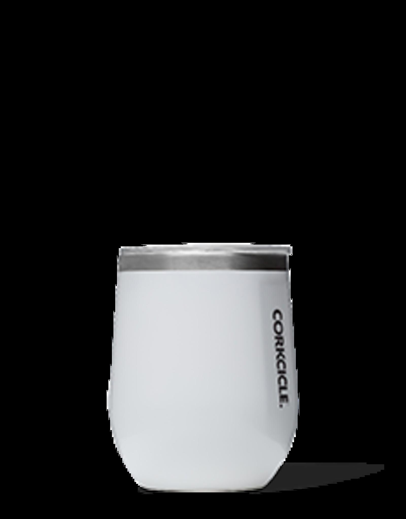 Corkcicle Stemless Wine Glass- 12oz White