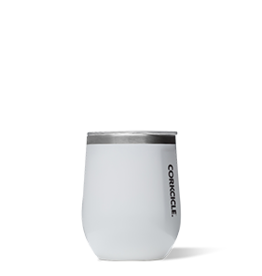Corkcicle Stemless- 12oz Wine Glass White