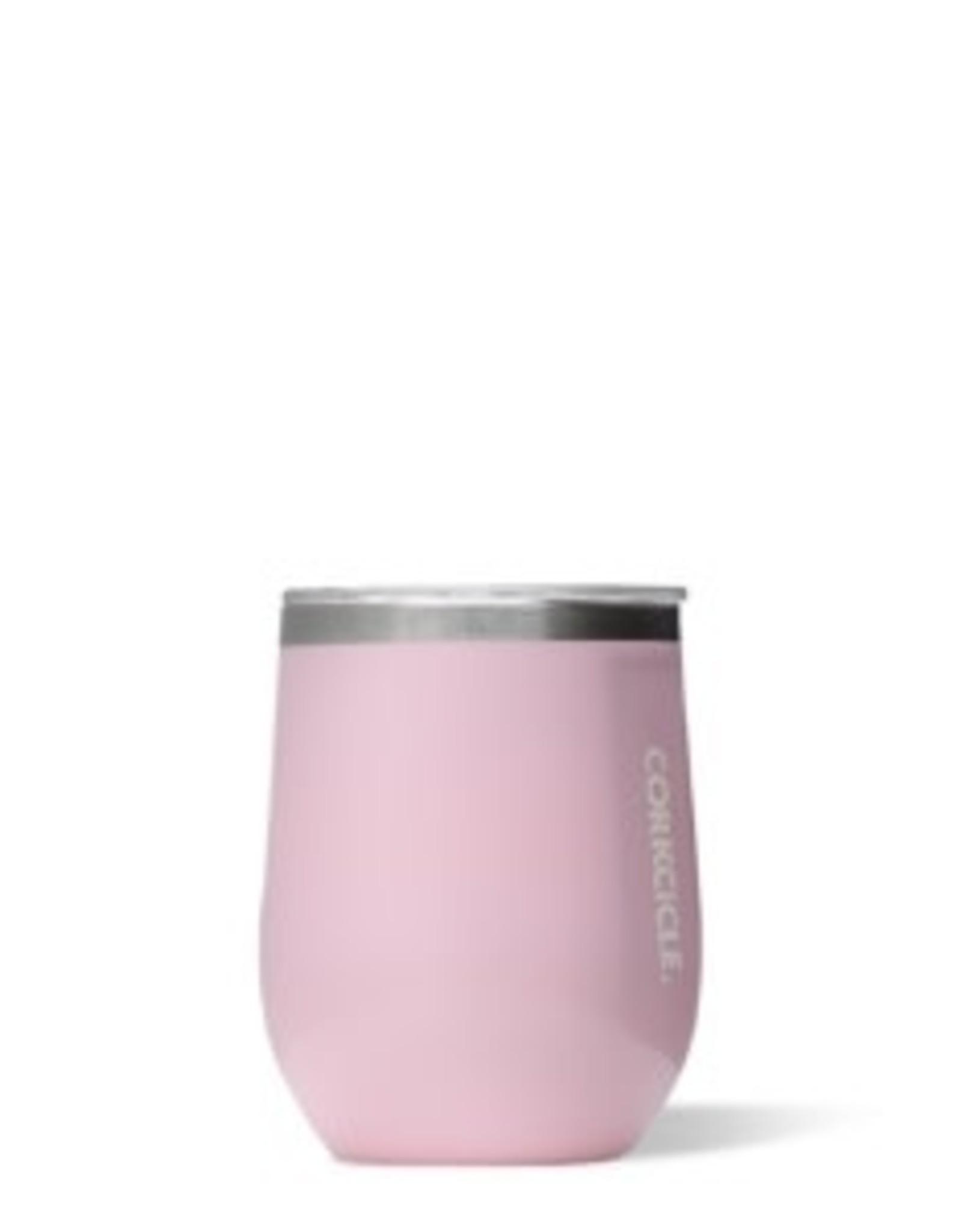 Corkcicle Stemless Wine Glass- 12oz Rose Quartz