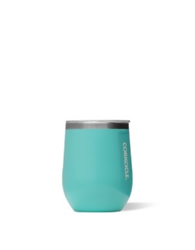 Corkcicle Stemless Wine Glass- 12oz Turquoise