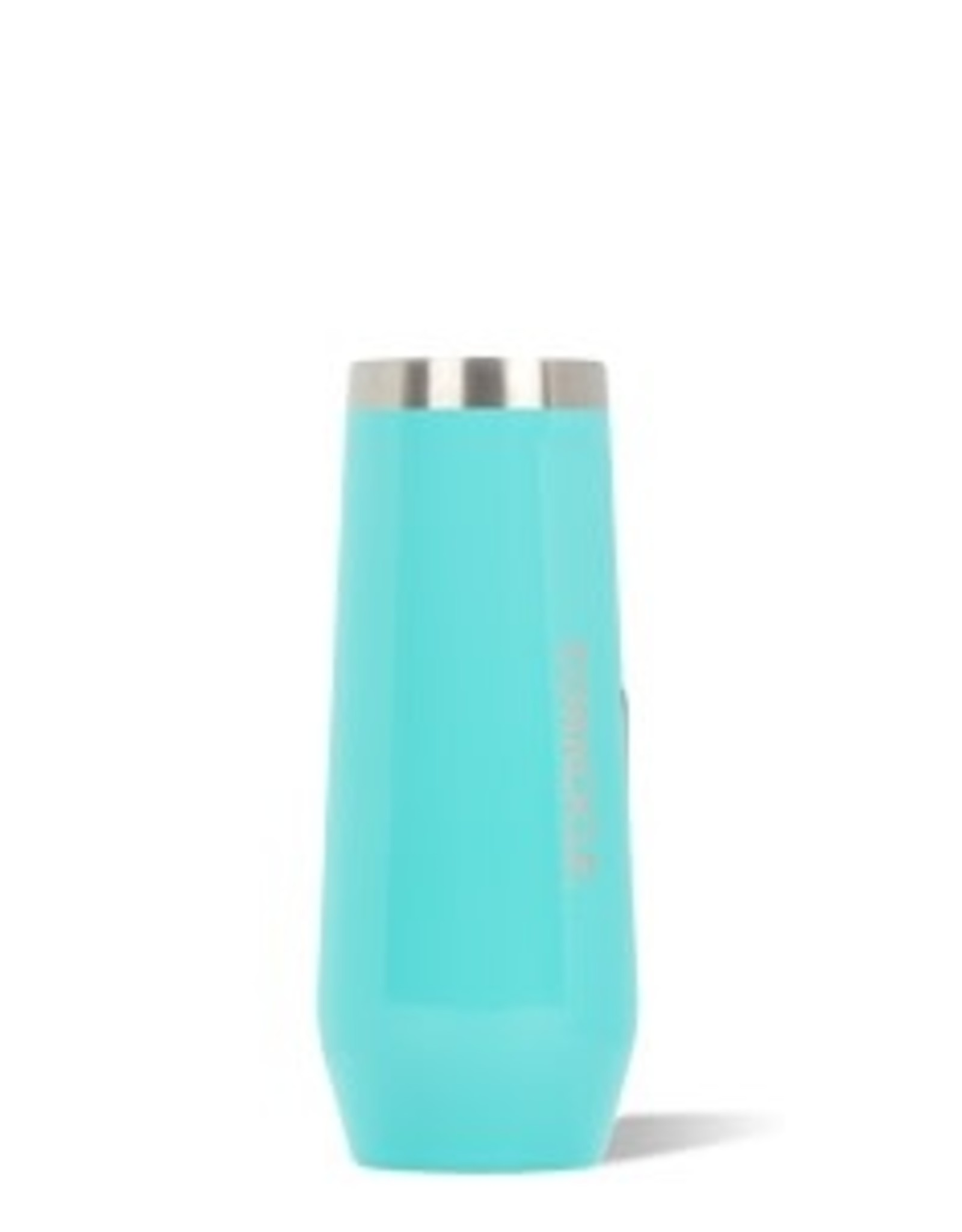 Corkcicle Stemless Flute- 7oz  Gloss Turquoise
