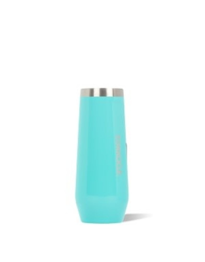 Corkcicle Corkcicle Stemless Flute- 7oz  Gloss Turquoise
