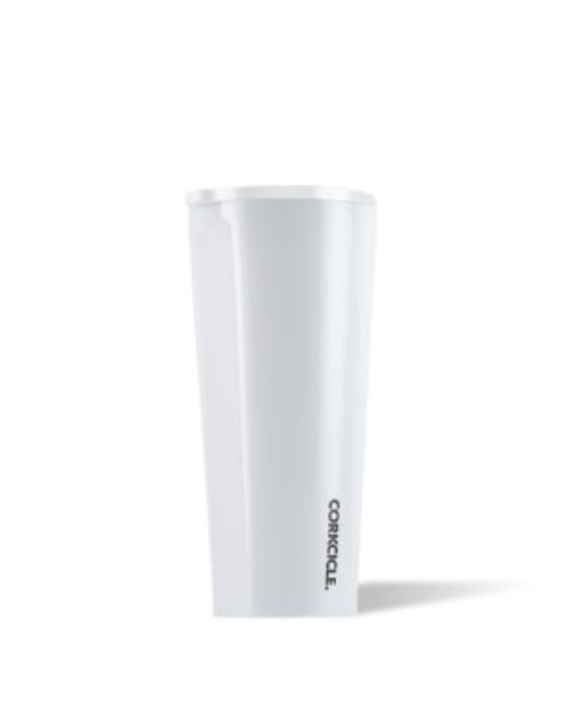 Corkcicle Corkcicle Tumbler- 24oz Gloss Dipped Modern White
