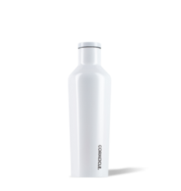 Corkcicle Corkcicle Canteen- 16oz Gloss Dipped Modernist White