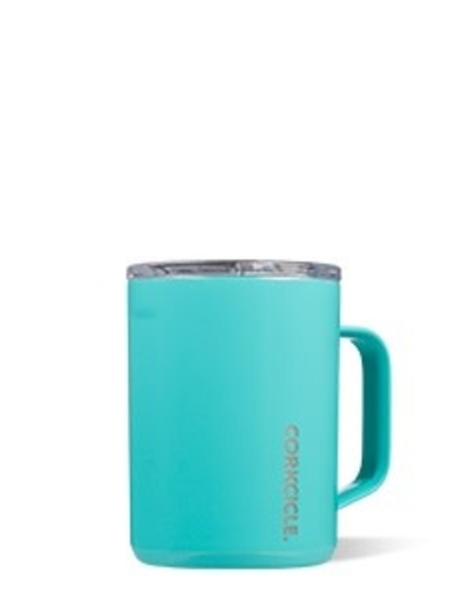 Corkcicle Mug- 16oz Gloss Turquoise