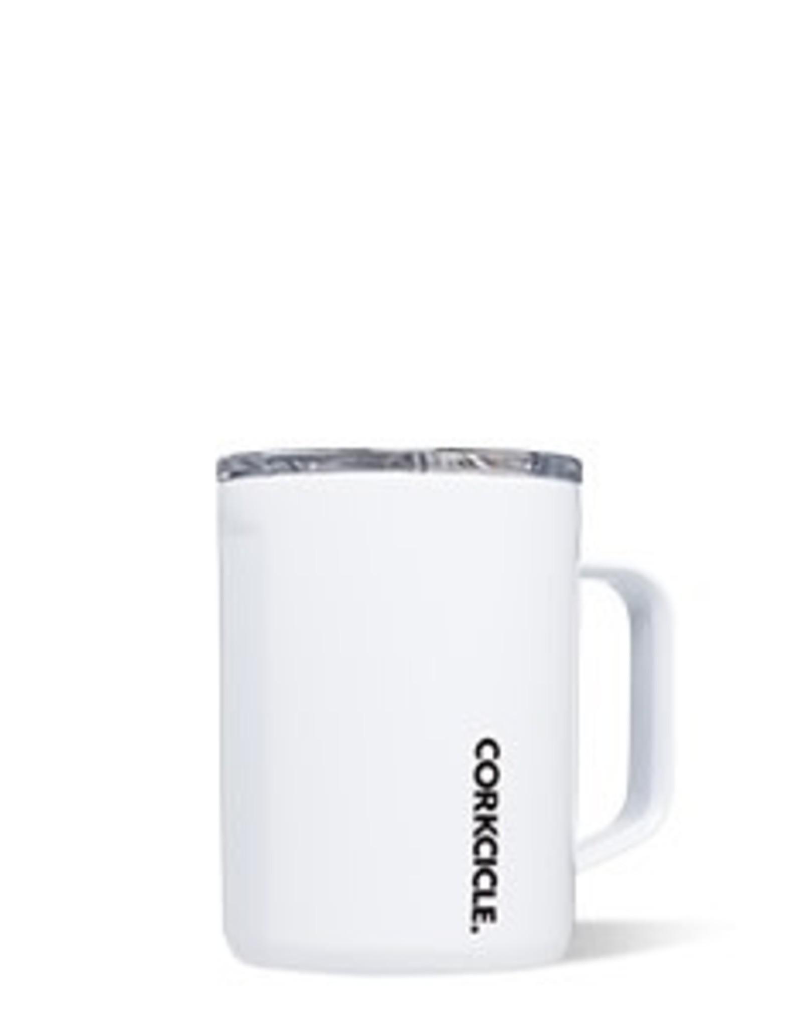 Corkcicle Mug- 16oz Gloss White