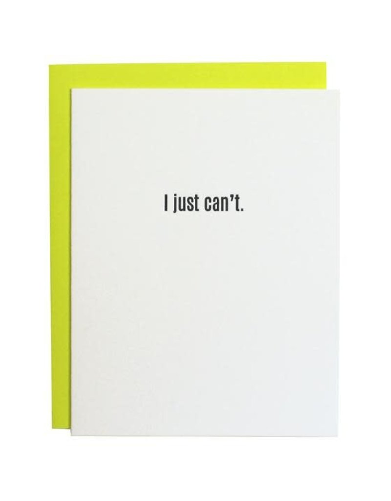 Card- I Just Can't