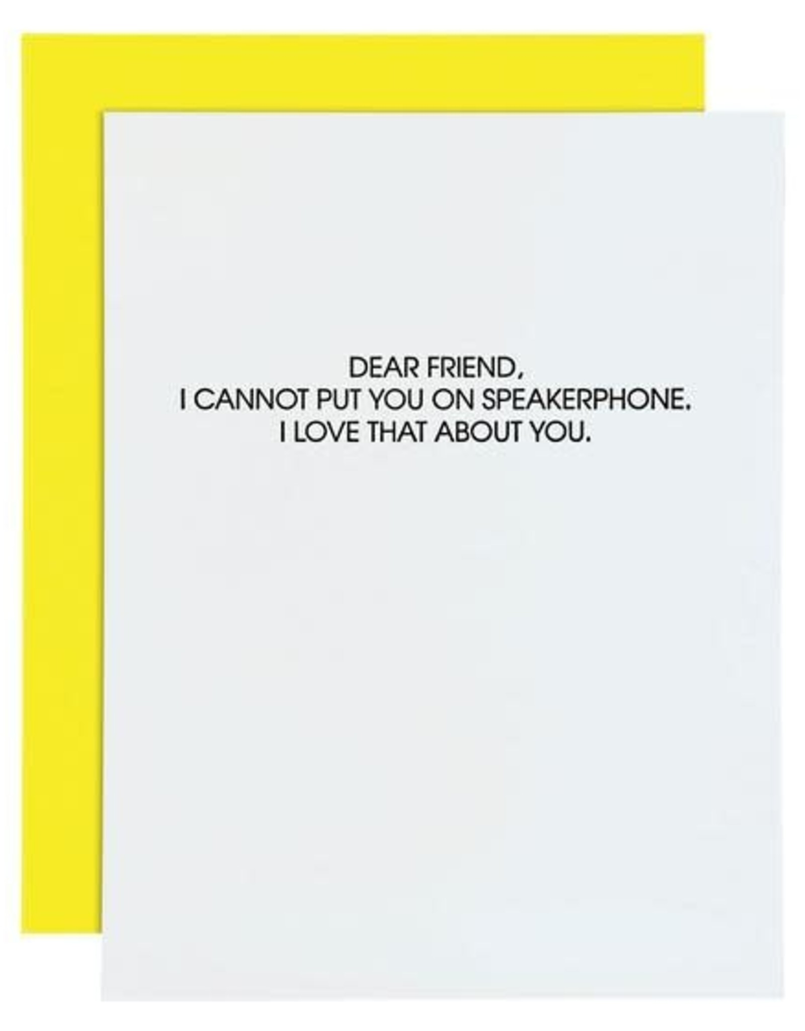 Chez Gagne Card- Speakerphone
