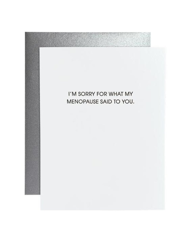 Card- My Menopause Said