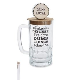 Mud Pie Beer Mug Set Alcohol Defense