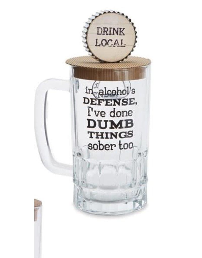 Mud Pie Beer Mug Set Alcohol Defense