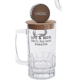 Mud Pie Beer Mug Set Life