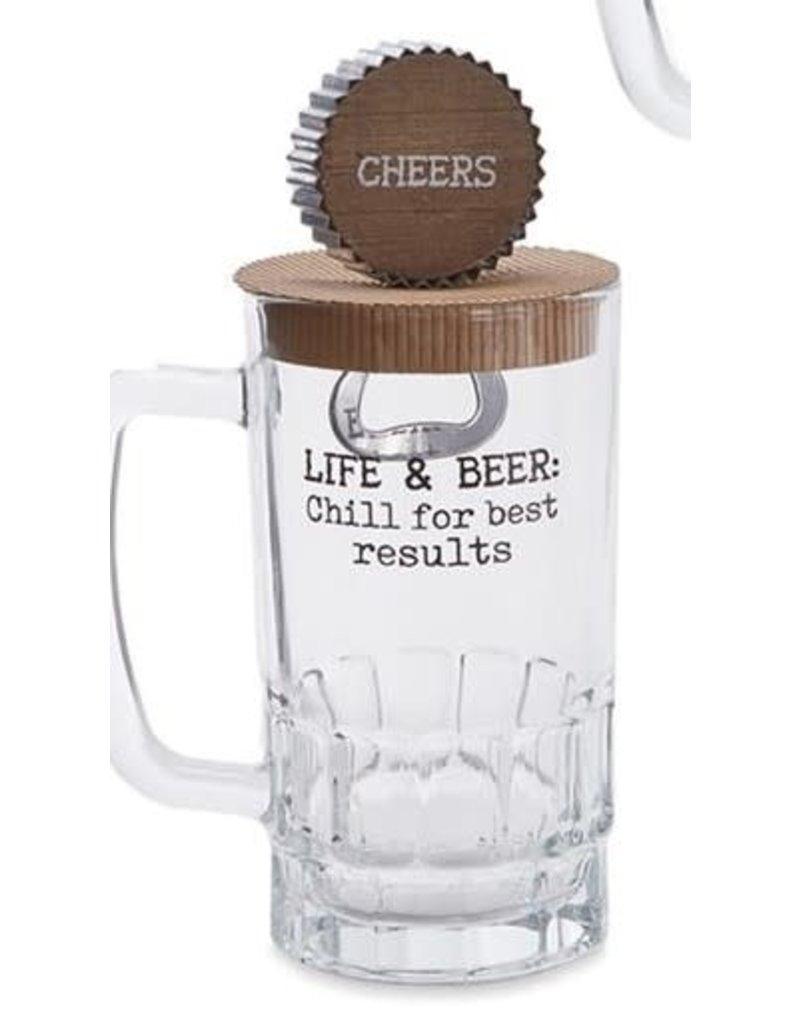 Mud Pie Beer Mug Set Life