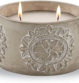 Citronella Concrete Flower Candle
