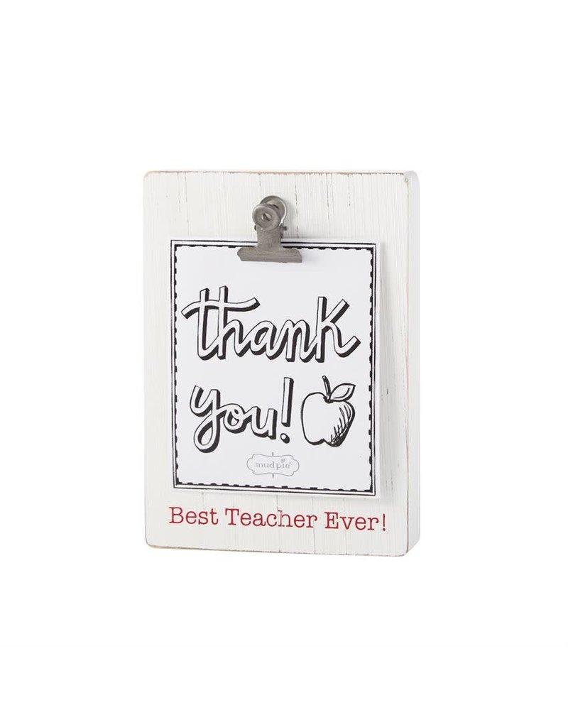 Mud Pie Clip Block Frame Best Teacher