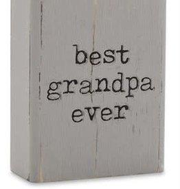Engraved Plaque Best Grandpa
