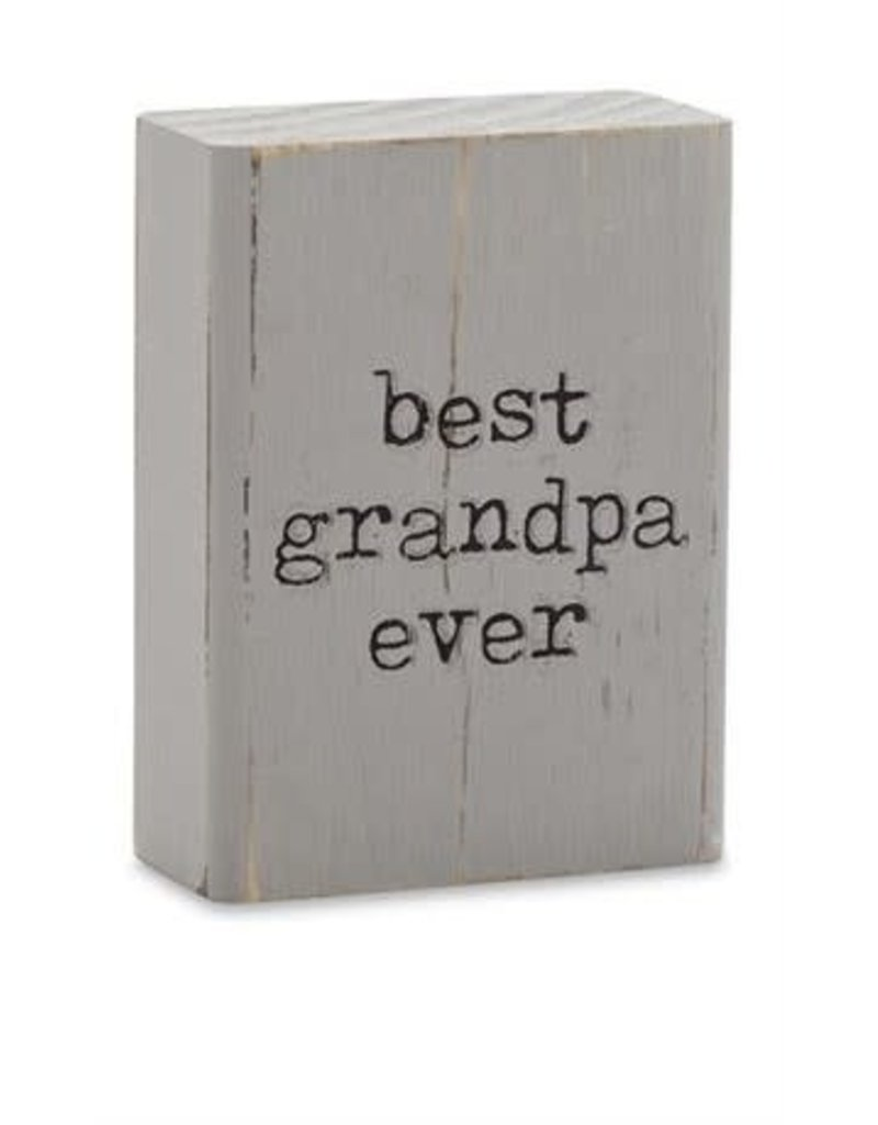 Mud Pie Engraved Plaque Best Grandpa