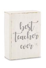 Engraved Plaque Best Teacher