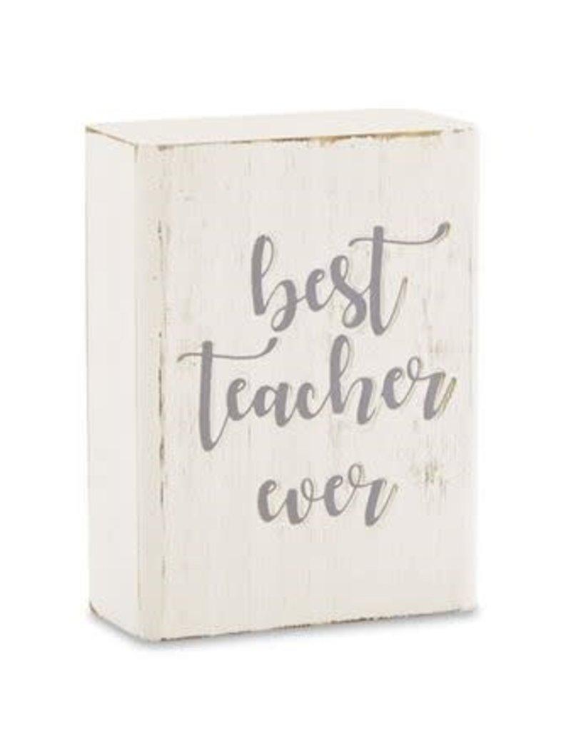Mud Pie Engraved Plaque Best Teacher