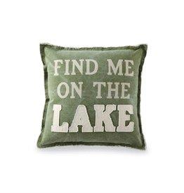 Pillow Green Canvas Lake