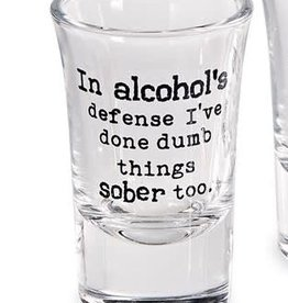 Shot Glass Alcohols Defense