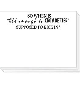 """Roseanne Beck Mini Slab Pad- """"Old Enough to Know Better"""""""
