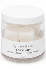 Exfoliating Sugar Cubes 5.3oz Jar  Coconut