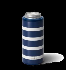 Swig Swig 12oz Skinny Can Cooler Nantucket Navy
