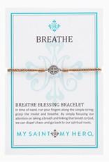 Breathe Bracelet Silver Silver/Taupe
