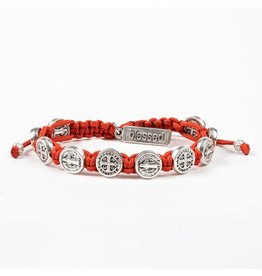 My Saint My Hero Blessing Bracelet Silver/Coral