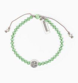 Birthday Blessing Bracelet August - Silver