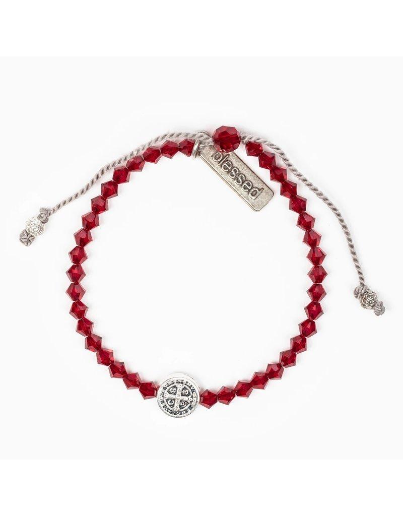 My Saint My Hero Birthday Blessing Bracelet January - Silver