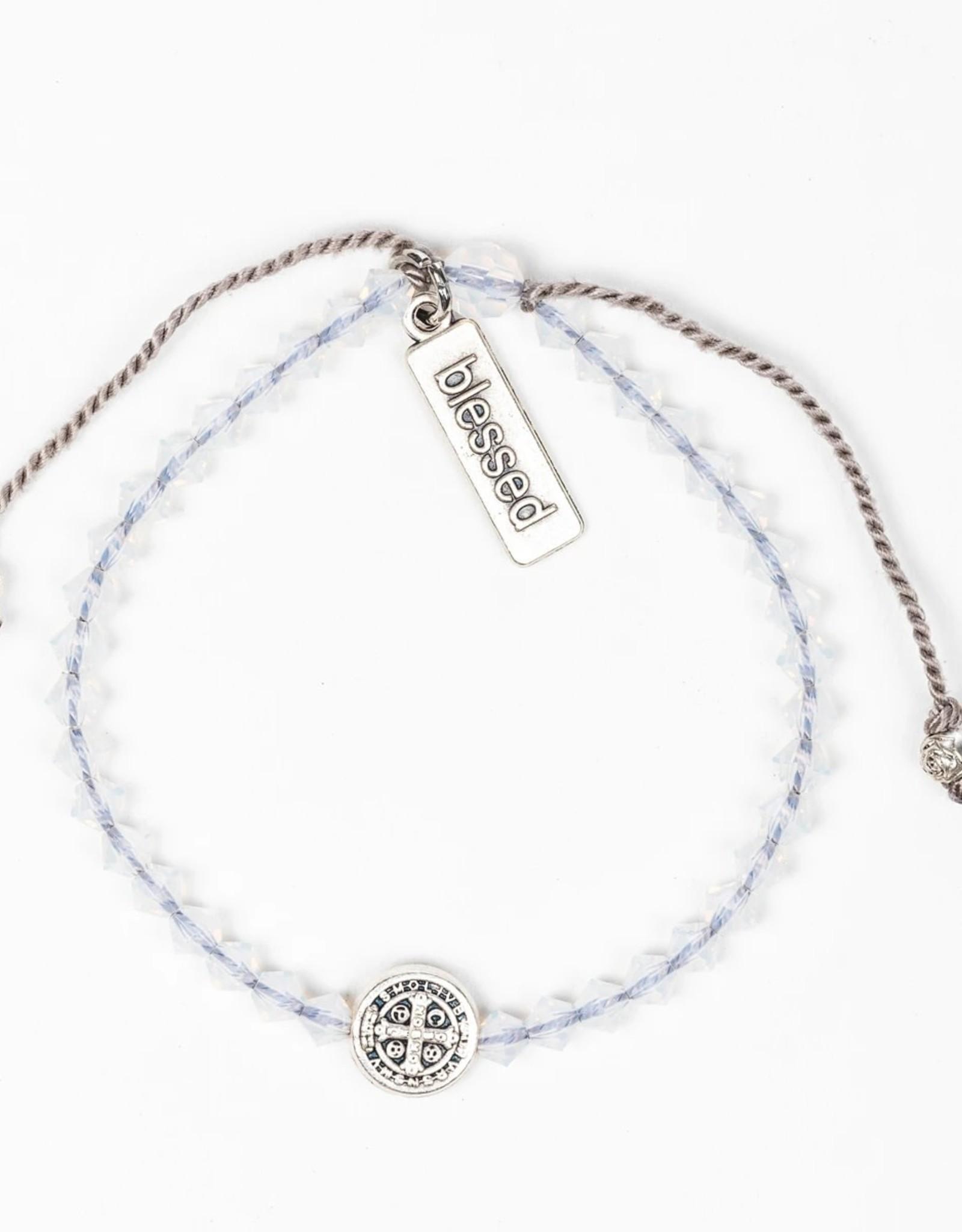 Birthday Blessing Bracelet October - Silver