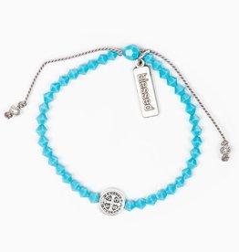 Birthday Blessing Bracelet December - Silver