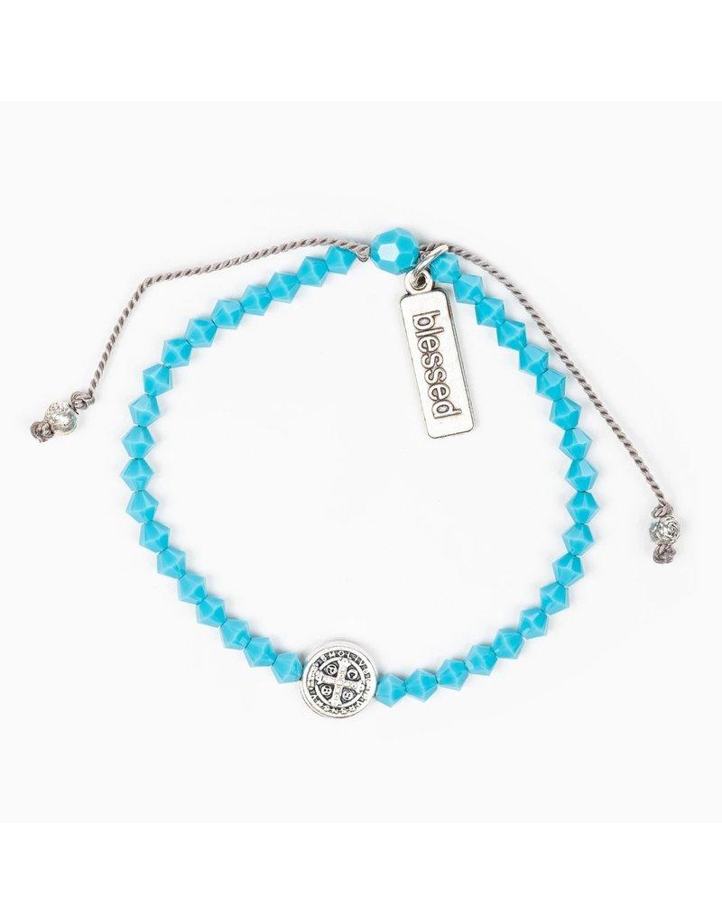 My Saint My Hero Birthday Blessing Bracelet December - Silver