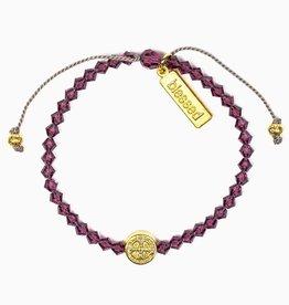 Birthday Blessing Bracelet February - Gold