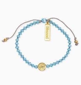 Birthday Blessing Bracelet March - Gold