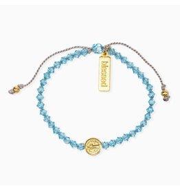 My Saint My Hero Birthday Blessing Bracelet March - Gold
