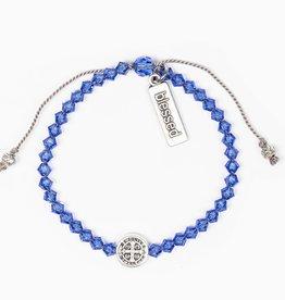 Birthday Blessing Bracelet September - Silver